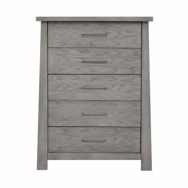 Contemporary Rustic Grey Asian Flair Chest