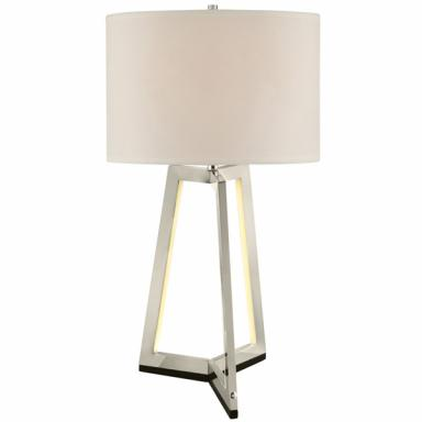 Two Light Table Lamp with Shade Lite Source LS-23165 Pax Table Light with Nightlight