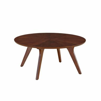 Mid-Century Round Walnut Coffee Table 852-050