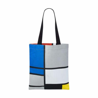 MOMA Piet Mondrian Canvas Tote Bag with Handle Contemporary Modern