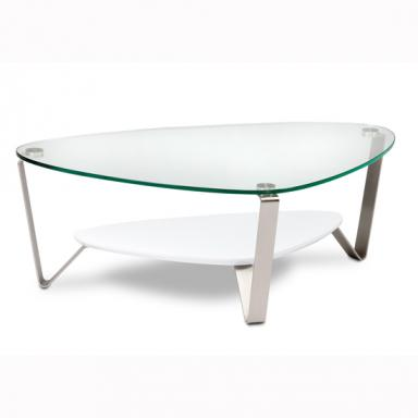 BDI Dino Triangular Glass Top Coffee Table