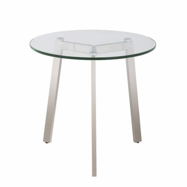 Clear Glass Round Modern End Table 2025LT