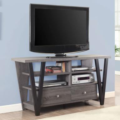 Contemporary Rustic Distressed TV Stand 701015
