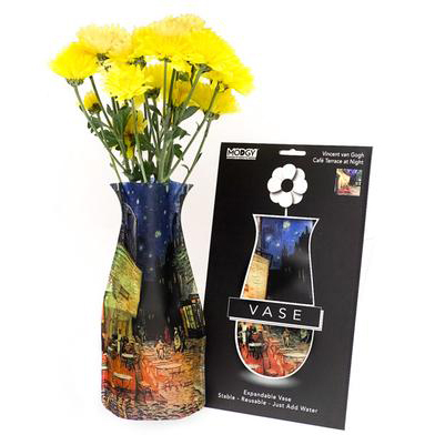 Contemporary Modern Plastic Flower Vase Affordable Vangogh Cafe in Paris