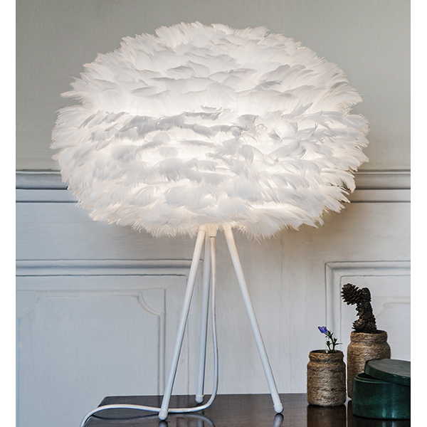 ... Feather Tripod Table Lamp White ...