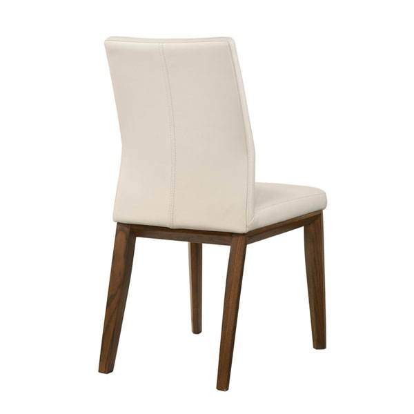 Ari Leather Dining Chair Walnut: Leather High Back Dining Chair #526