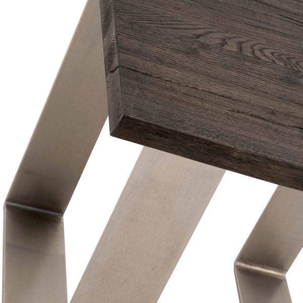 Contemporary Distressed Solid Wood End Table