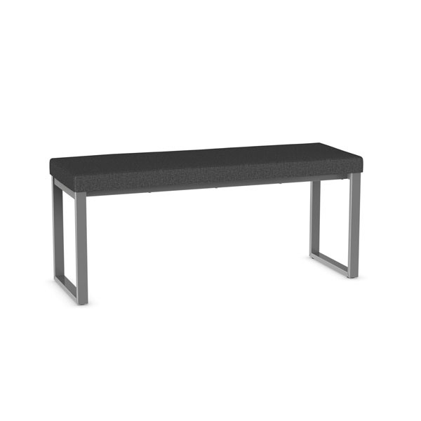 Amisco 30409 Backless Padded Upholstered Bench with Metal Legs Customization