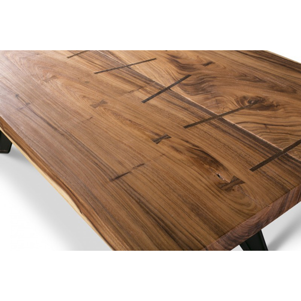 Solid Wood Straight Edge Table