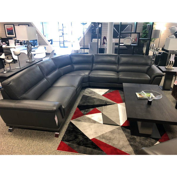 Contemporary Leather Comfortable Sectional