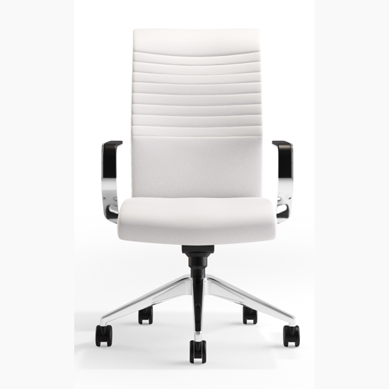 VIA Seating USA Made Contemporary Office Desk Chair with Arms