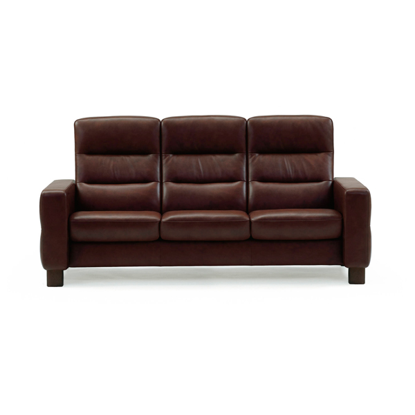 Contemporary galleries wave high back stressless sofa for Paloma leather sofa