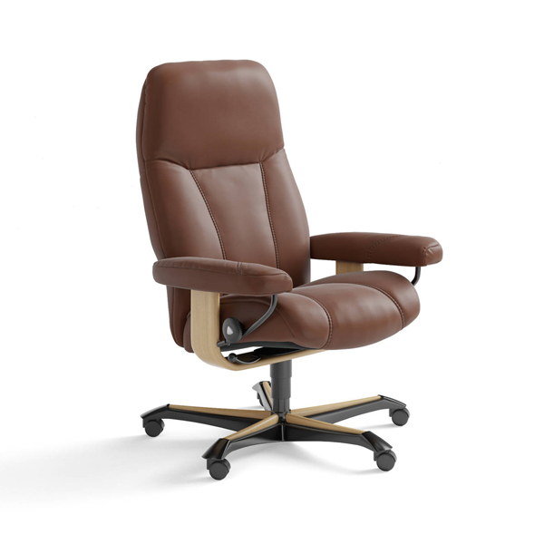 Reclining Executive Highback Office Chair with Lumbar Support