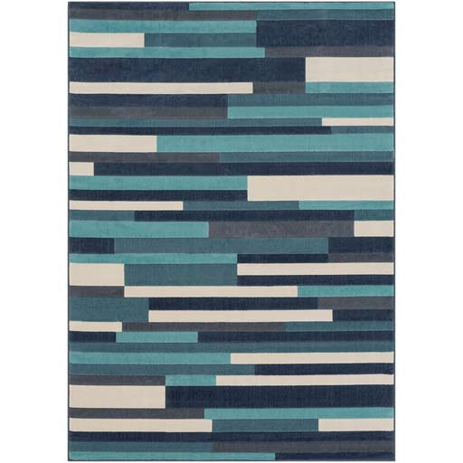 Affordable Linear Polypropylene Area Rug Surya City CIT-2333 5x7