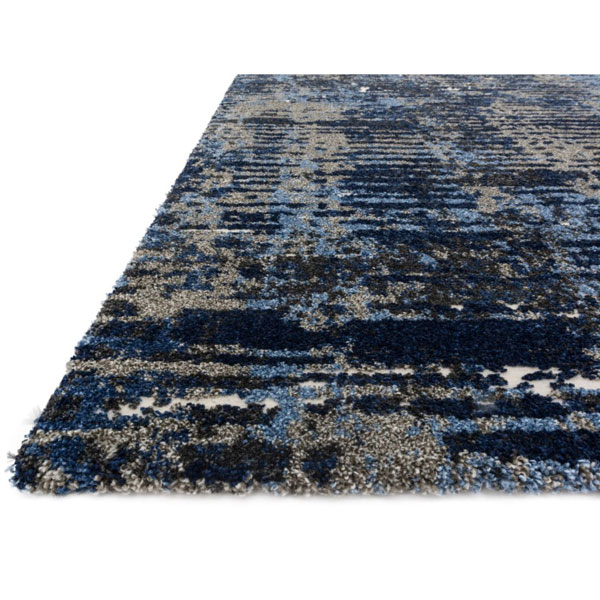 Blue Navy White Thick Area Rug