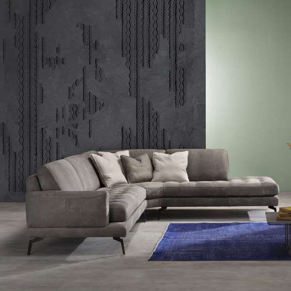Bracci Brand Italian Produced Upholstered Sectional chaise
