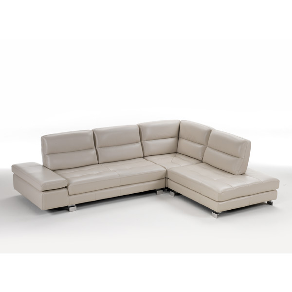Italian Made Leather Sectional with Motion Backs 7768