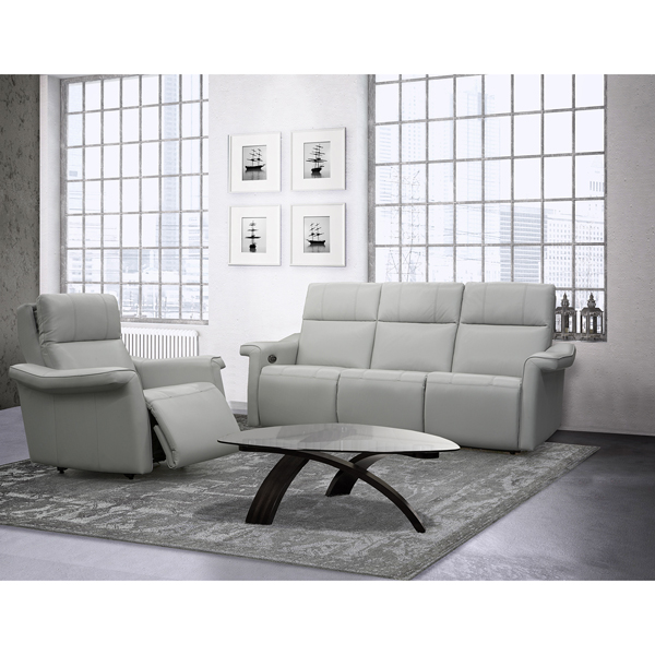 Contemporary Galleries Dual Power Recliner Loveseat With