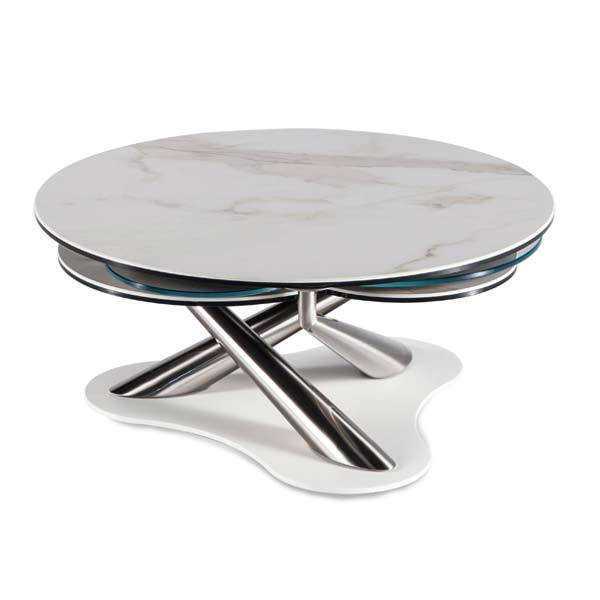 MyFlower Expandable Marble Coffee Table by Naos from Italy