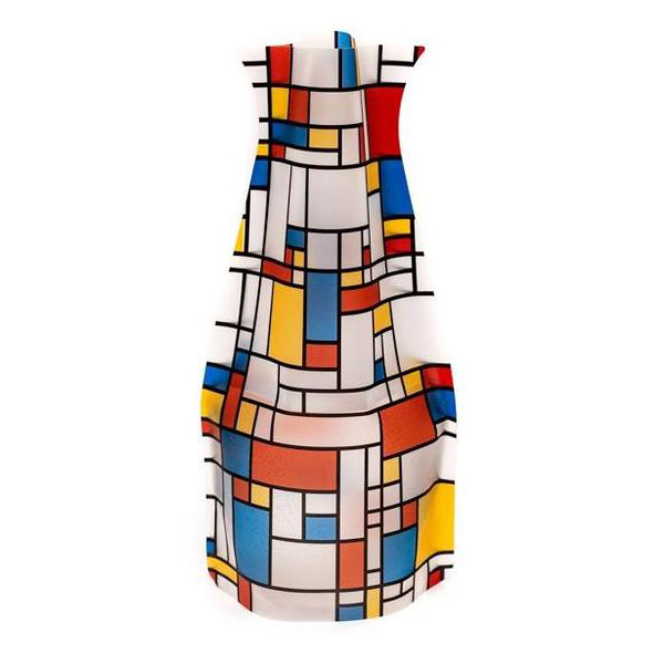 Piet Mondrian Collapsible Flower Vase Plastic Easy to Store Modern