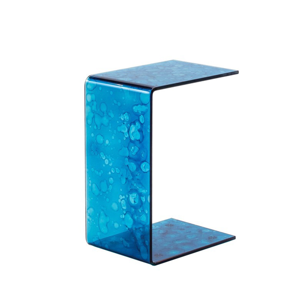 Turquoise Blue Laptop Slide-Up Snack End Table