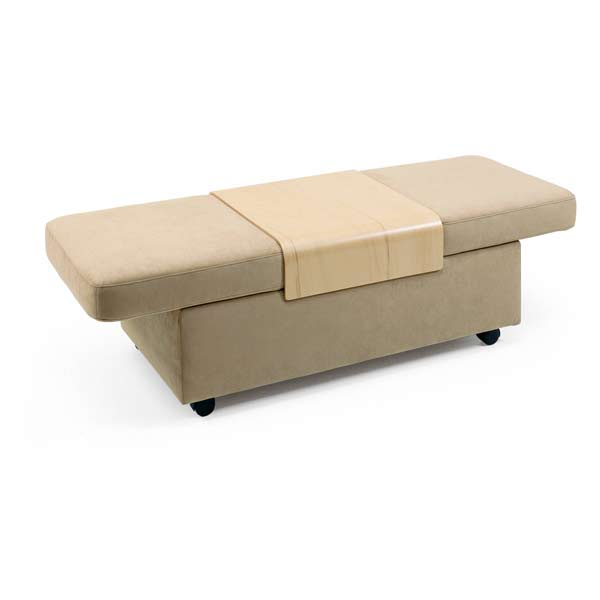 Expandable Leather Ottoman with Internal Storage Ekornes