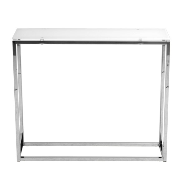 Eurostyle Glass & Metal Console Table 28033