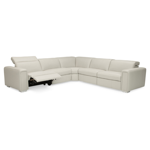 Power Recliner Sectional with Independent Headrest Adjustments