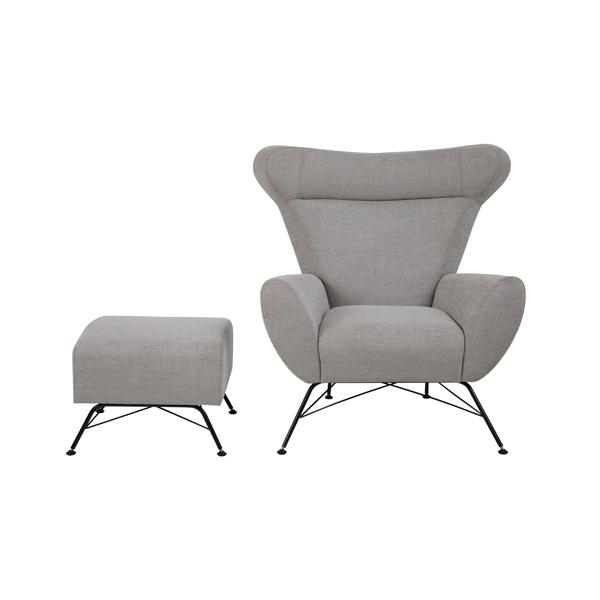 Contemporary Galleries Winston Chair Amp Ottoman Grey