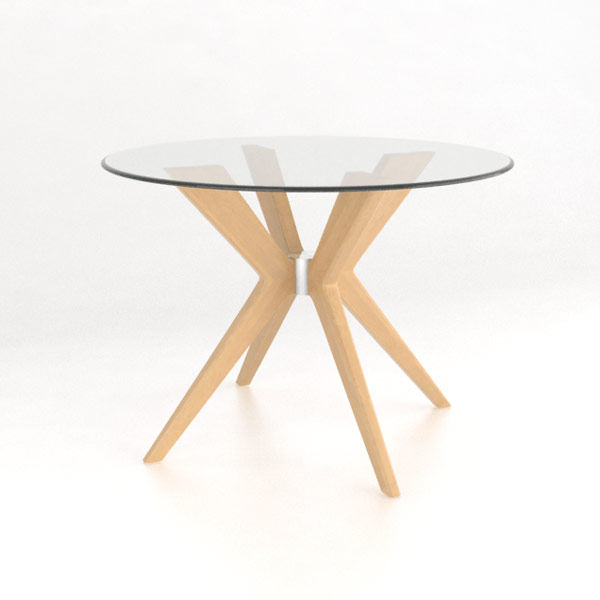 Canadel Solid Wood Round Dining Table