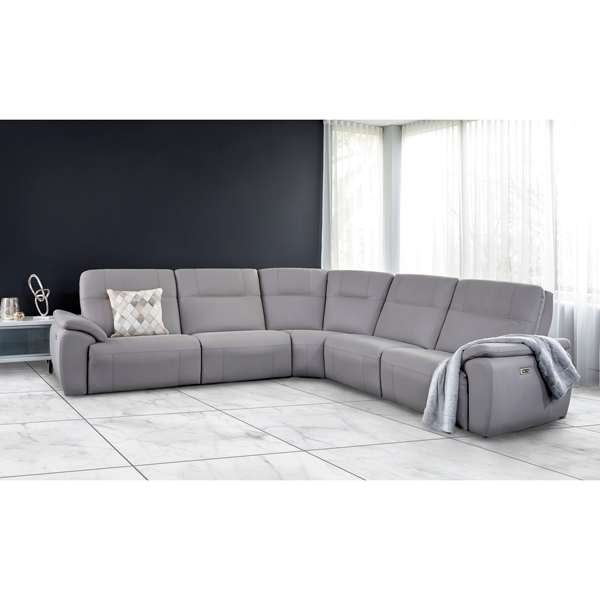 Elran Sectional with Removable Backs for Tight Areas