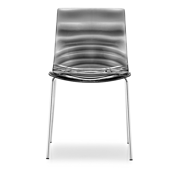 Italian Stackable Translucent Grey Side Chair Connubia CS-1273