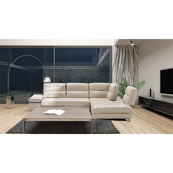 L-Shape Sectional with Motion Backs #697