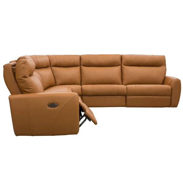 Contemporary Galleries Sectional With 3 Power Seats