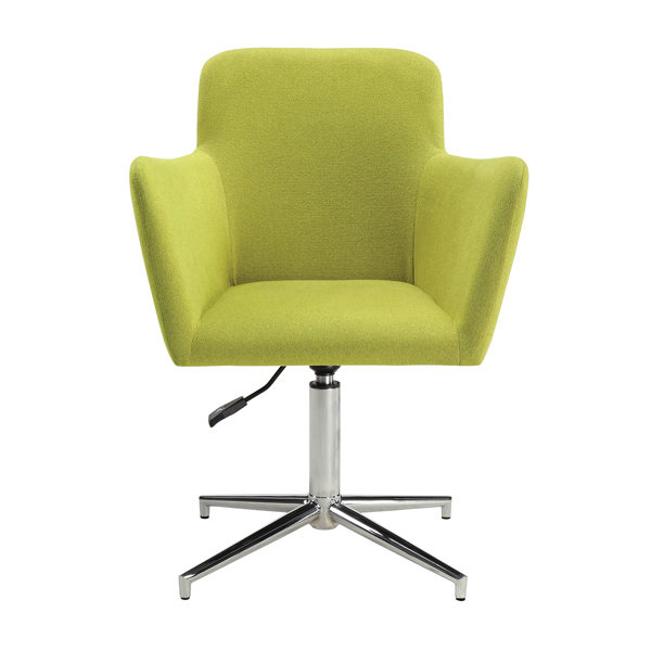 Adjustable Seat Height Guest Swivel Arm Chair Green