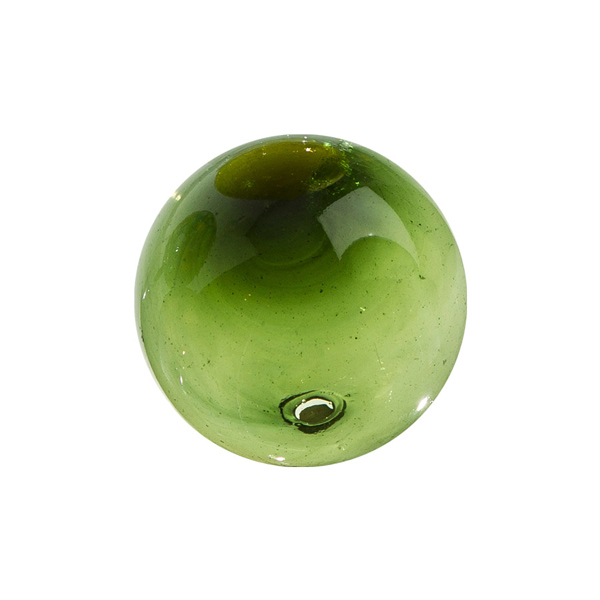 "Worldly Goods Solid Lime Glass Sphere 3"" GC-103/G"