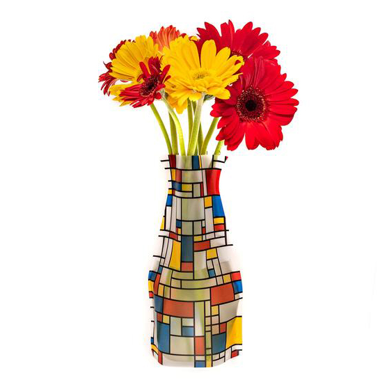 Plastic Vase Indoor Outdoor Stores Flat Won\'t Break Chip Mondrian De Stijl Netherlands