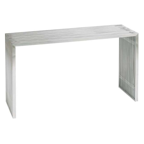 Brushed Stainless Steel All Metal Console Table HGDJ189 Amici Sofa Table