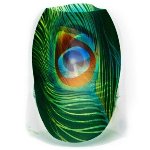 Luminary Luminaries Tabletop Peacock Colorful LED Lit Reusable