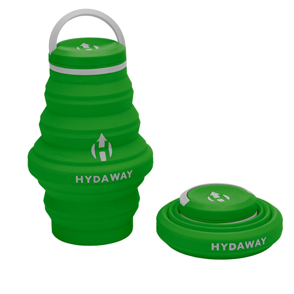 Hydaway Collapsible Silicone Water Liquid Bottle for Camping Hiking Backpacking Running Compact Lightweight