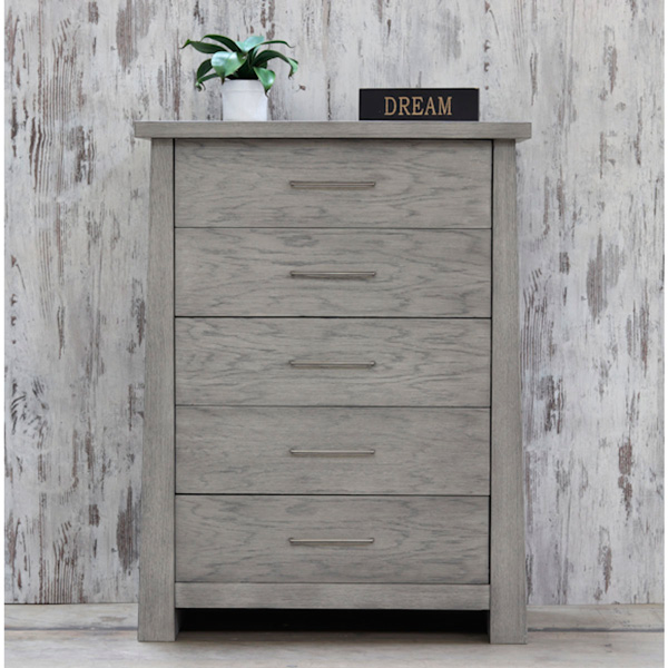 Grey Rustic Driftwood Finish Contemporary Chest