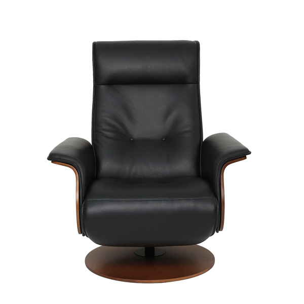 Mid-Century Designed Power Leather Recliner