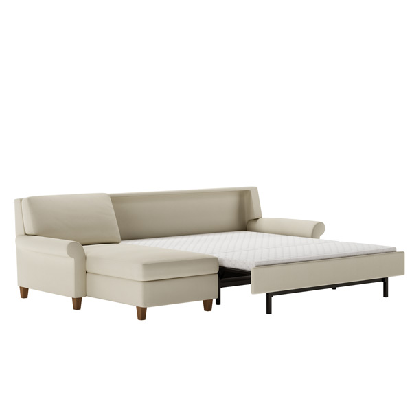 Traditional Style Rolled Arm Sleeper Sofa