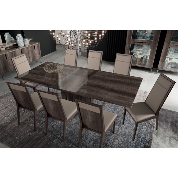High Gloss Sheen Rich quality Dining Table Sits 8
