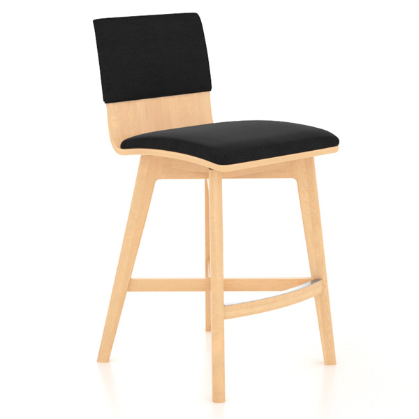 Canadel Solid Wood Memory Return Swivel Counter Stool