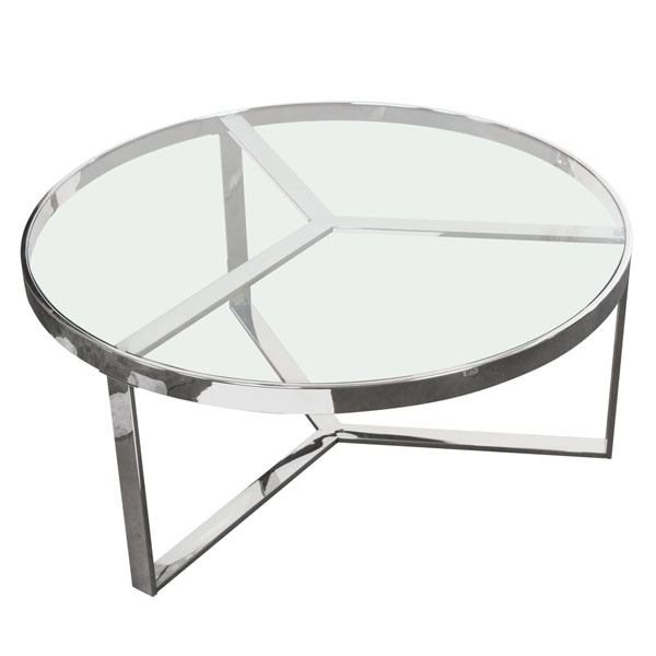 Modern Contemporary Industrial Minimal Round Coffee Table