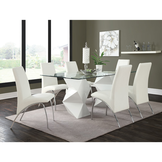 Armless Modern Dining Chair White 120802