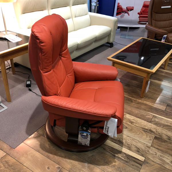 Norwegian Leather Recliner with Power Footrest