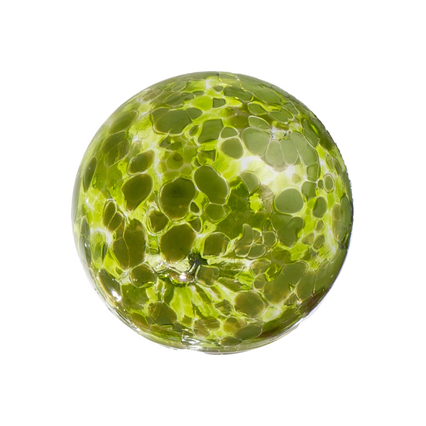 Worldly Goods Speckled Lime Glass Sphere 4.5""