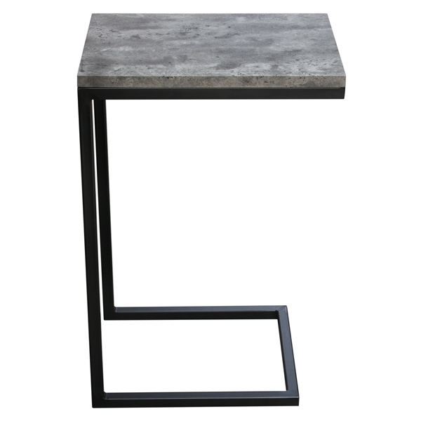 Faux Concrete Laminated Top Snack Laptop Table